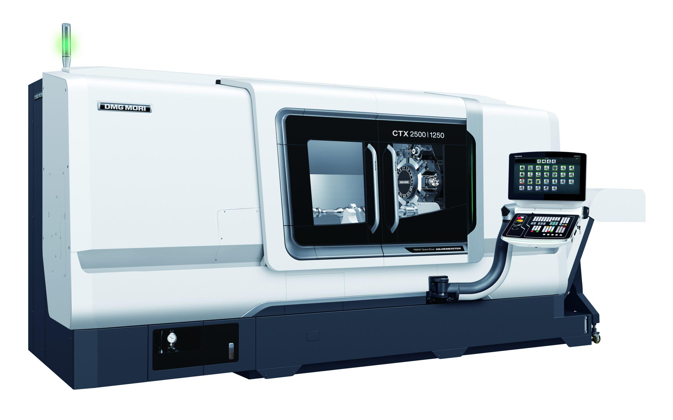 CNC-Drehmaschine DMG CTX 2500/1250 mit angetriebenen Werkzeugen und Y-Achse DrehØ = 500 mm Drehlänge = 2500 mm  Stangendurchlass = 90 mm